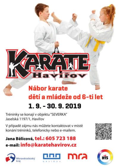 Nábor karate Havířov